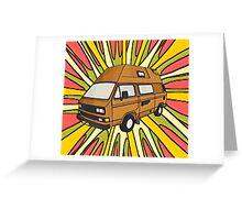 T25 explosive cartoon Greeting Card