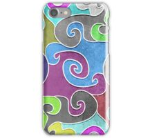 Colorful swirls iPhone Case/Skin