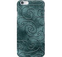 Gray swirls iPhone Case/Skin