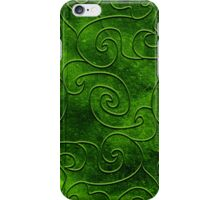Green swirls iPhone Case/Skin