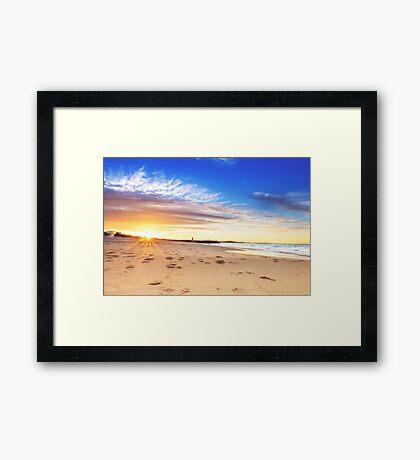 Noosa Beach Sunset - Australia Framed Print