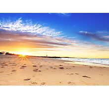 Noosa Beach Sunset - Australia Photographic Print