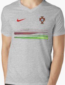 Euro 2016 Football - Portugal Mens V-Neck T-Shirt