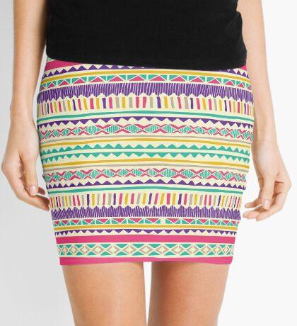 Geo Stipes Mini Skirt