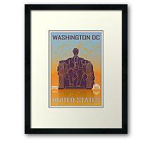Washington DC vintage poster Framed Print