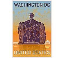 Washington DC vintage poster Photographic Print