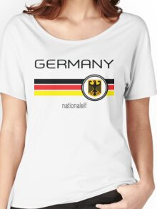 Euro 2016 Football - Germany ( White)  Women's Relaxed Fit T-Shirt