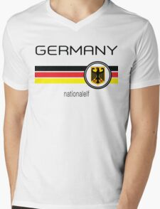 Euro 2016 Football - Germany ( White)  Mens V-Neck T-Shirt