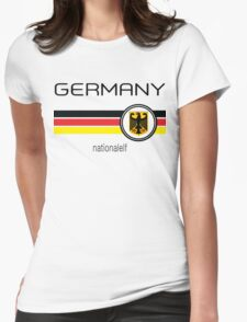Euro 2016 Football - Germany ( White)  Womens Fitted T-Shirt