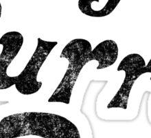 TFBB black (distressed) Sticker