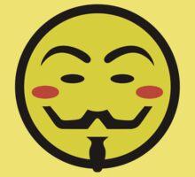 Anonymous Vendetta Smiley Kids Tee