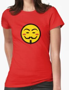 Anonymous Vendetta Smiley Womens Fitted T-Shirt