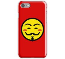 Anonymous Vendetta Smiley iPhone Case/Skin