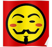 Anonymous Vendetta Smiley Poster