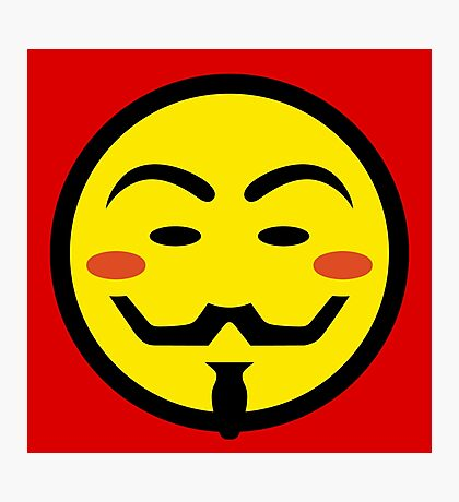 Anonymous Vendetta Smiley Photographic Print