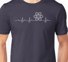 ReactJS Heartbeat T-shirt - Best Gift for Programmers Unisex T-Shirt