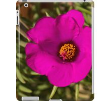 Happily, Vibrantly Pink With a Golden Yellow Center iPad Case/Skin