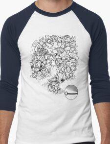 Doodlemon Men's Baseball ¾ T-Shirt