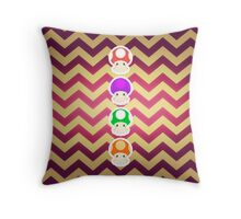 Mario Mushrooms Octo Style Throw Pillow