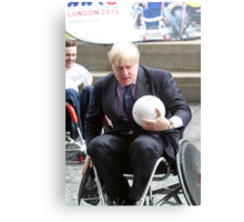 London Mayor Boris Johnson joins international stars to officially launch World Wheelchair Rugby Challenge Canvas Print