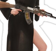 Sexy Nun with Gun - 1 Sticker