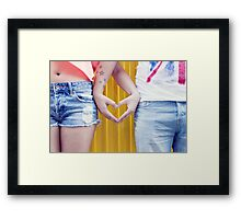 love forever Framed Print