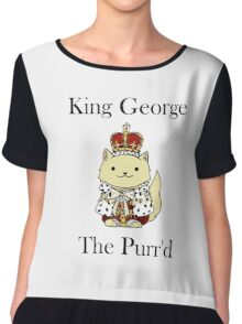 King George the Purr'd Chiffon Top