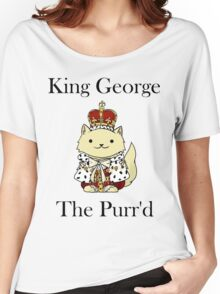 King George the Purr'd Women's Relaxed Fit T-Shirt