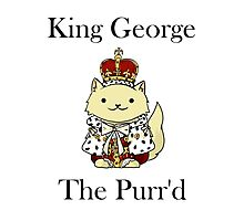 King George the Purr'd Photographic Print