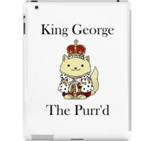 King George the Purr'd iPad Case/Skin