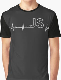 JavaScript Heartbeat - Perfect Gift for Programmers Graphic T-Shirt