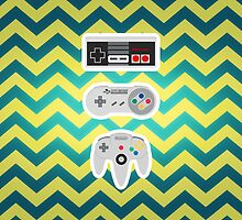 Old School Nintendo Controllers by SnapFlash