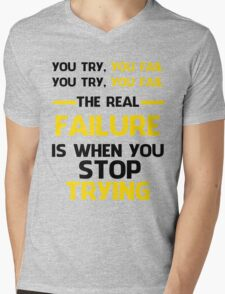 NEVER STOP TRYING - BLACK&YELLOW T-Shirt