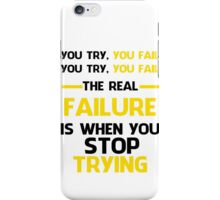 NEVER STOP TRYING - BLACK&YELLOW iPhone Case/Skin