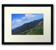 Aerial Photo Mountains Scenic Countryside Framed Print