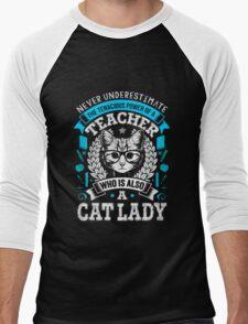 Never Underestimate A Teacher - Funny Cute T-Shirt for Women Men's Baseball ¾ T-Shirt