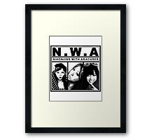 Nihonjins With Abacuses Framed Print