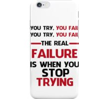 NEVER STOP TRYING - BLACK&RED iPhone Case/Skin