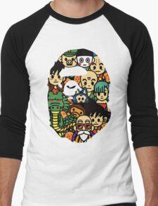 Bape A bathing ape Dragon Ball Z Dbz Men's Baseball ¾ T-Shirt