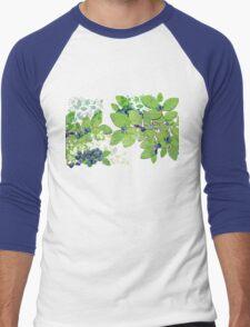 Blueberries from Nova Scotia Men's Baseball ¾ T-Shirt