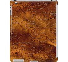 Brown swirls iPad Case/Skin