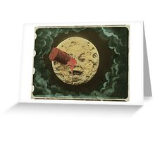 A trip to the moon Greeting Card