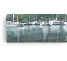 Boats at the marina of Morlaix, Brittany Canvas Print