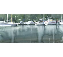 Boats at the marina of Morlaix, Brittany Photographic Print
