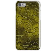 Olive swirls iPhone Case/Skin