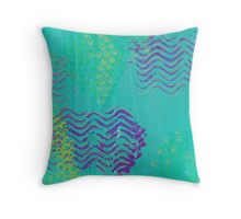 Painterly Abstract Throw Pillow