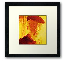 SELF PORTRAIT OF THE ARTIST AS AN OLD GUY. Framed Print