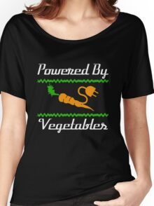 Cool Unique Powered By Vegetables T-Shirt Ideal Gift For Vegans Women's Relaxed Fit T-Shirt