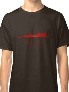 Buenos Aires skyline in red Classic T-Shirt