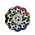 South African Football Flower by catherine bosman